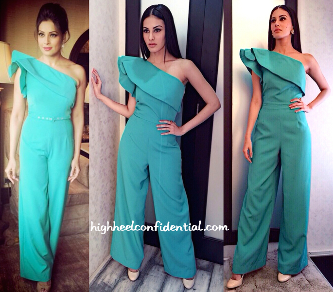 Amyra Dastur In Sonia Mehra At Mr X Promotions (Also Seen On Bipasha Basu)