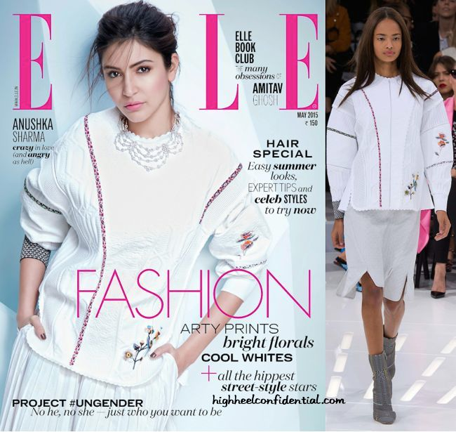 Anushka Sharma Covers Elle's May 2015 Issue Wearing Dior And Bodice