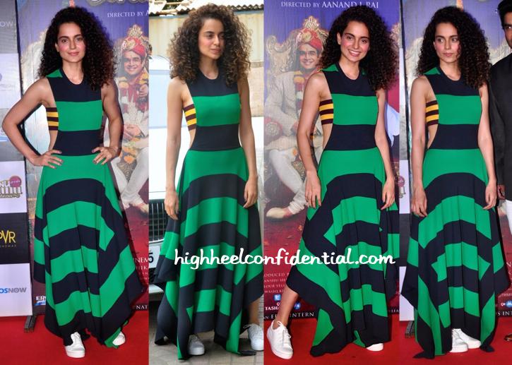 Kangana Ranaut In Stella McCartney At 'Tanu Weds Manu Returns' Promotions-2