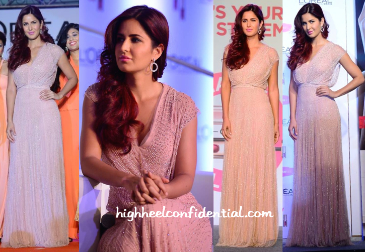 Katrina Kaif In Jenny Packham And Gehna At L'Oréal Paris Cannes Collection Launch-1