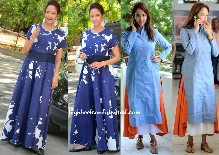 Lakshmi Manchu At 'Budugu' Press Meet (In Natasha J) And At 'Dongaata' Press Meet (In Tilla)-1
