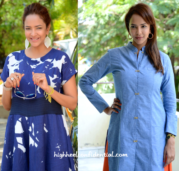 Lakshmi Manchu At 'Budugu' Press Meet (In Natasha J) And At 'Dongaata' Press Meet (In Tilla)-2