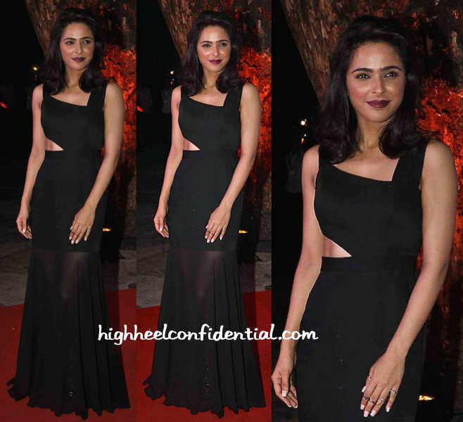 Madhurima Tuli In BCBG And Steve Madden At Videocon Event