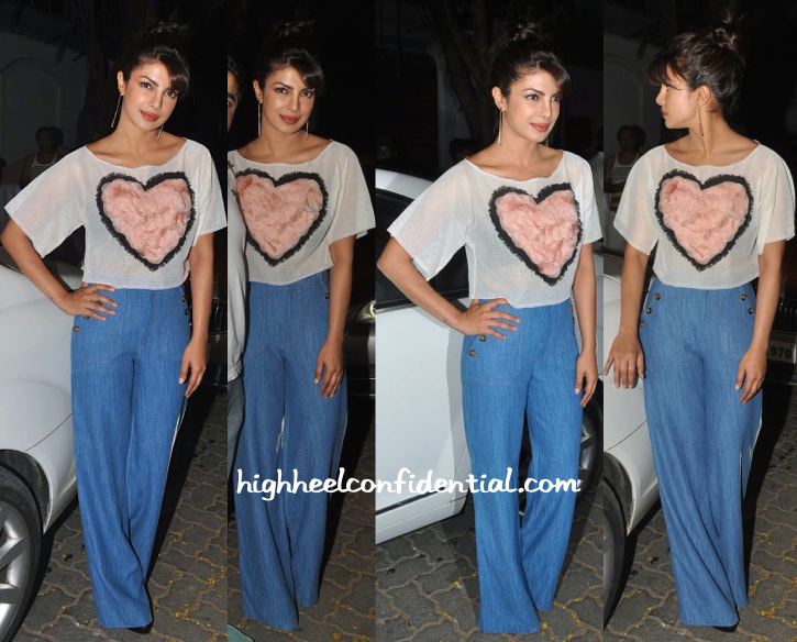 Priyanka Chopra In Asmita Marwa At Anil Kapoor's Do