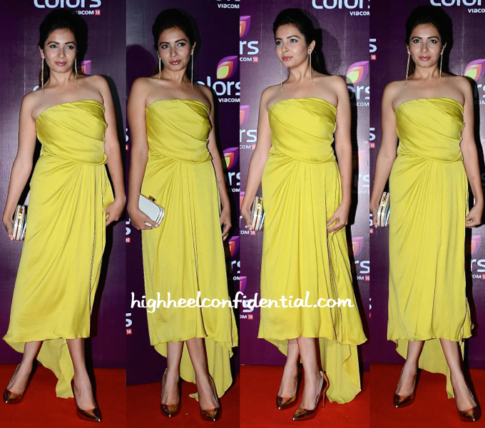 Shonali Nagrani In Halston Heritage At Colors TV Annual Party