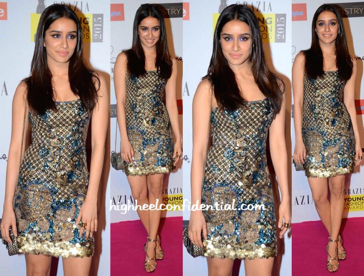 Shraddha Kapoor At Grazia Young Fashion Awards 2015-1