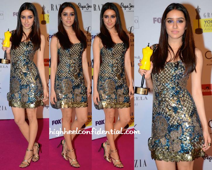 Shraddha Kapoor At Grazia Young Fashion Awards 2015-2