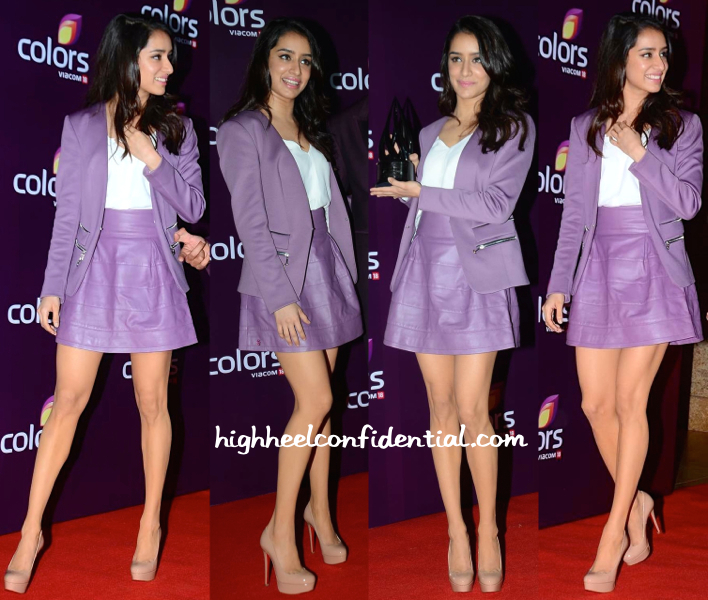 Shraddha Kapoor In Philipp Plein At Colors TV Annual Party-1
