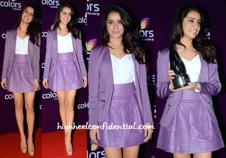Shraddha Kapoor In Philipp Plein At Colors TV Annual Party-2