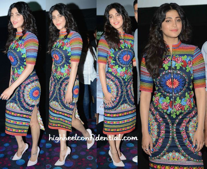 Shruti Haasan In Neha Agarwal At Gabbar Promotions In Delhi-1
