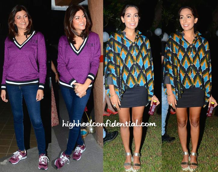 Sushmita Sen And Monica Dogra At Sohum Spa Launch-1