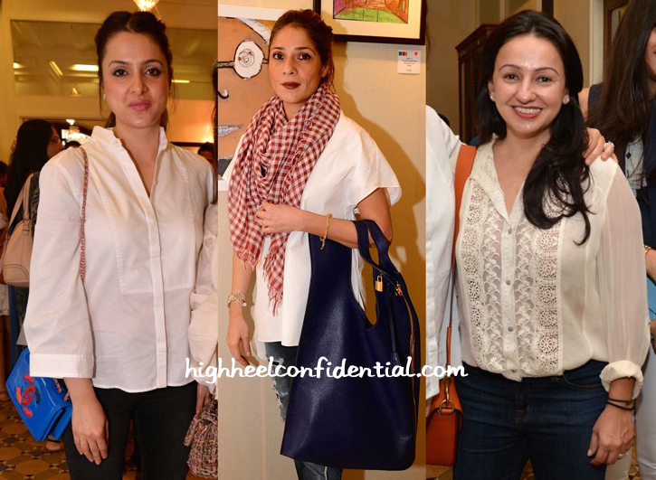 Tania Deol, Haseena Jethmalani And Penny Patel At An Art Show-1
