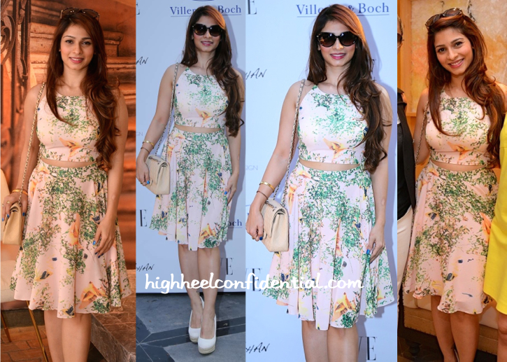 Tanishaa Mukerji In Amy Billimoria At Gauri Khan Design Studio