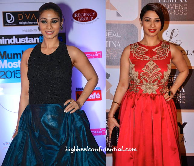 Tanishaa Mukerji In Ministry Of Design At HT Style Awards 15 And In Varun Bahl At Loreal Femina Women's Awards 15-2