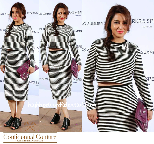 Tisca Chopra At Marks & Spencer Fashion Show