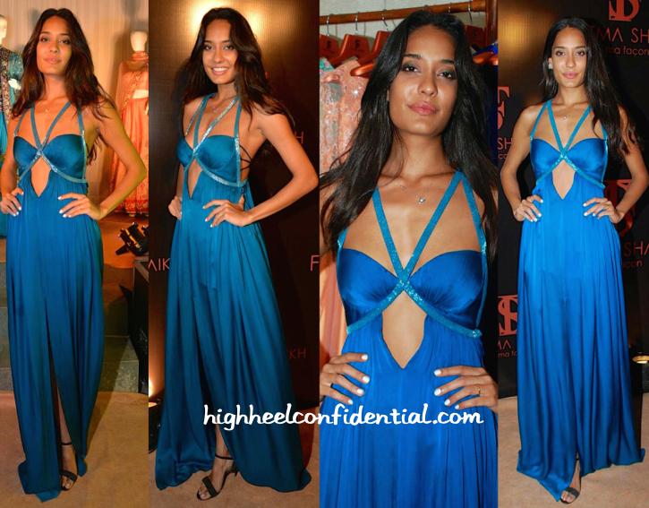 lisa haydon In Fatima Shaikh At The Designer's Store Launch
