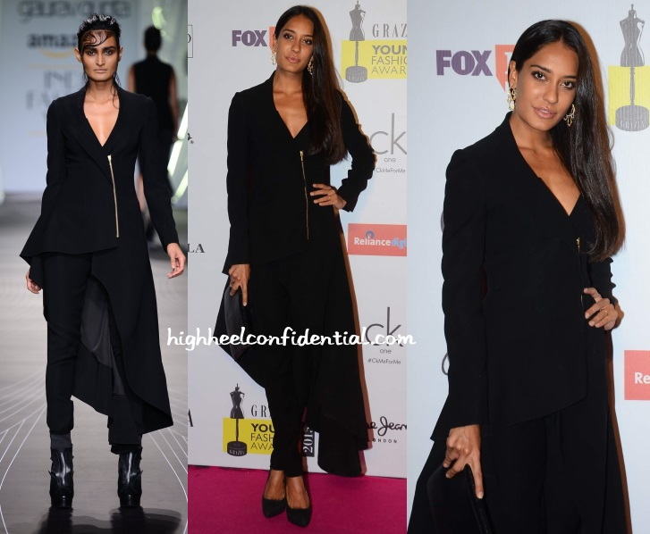 lisa-haydon-gaurav-gupta-grazia-young-fashion-awards-2015
