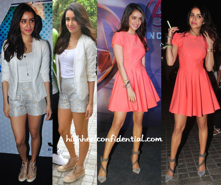 shraddha kapoor at abcd 2 trailer launch and at avengers screening-2