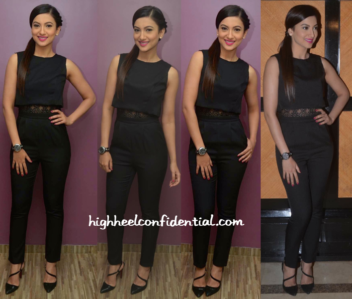 Gauahar Khan In Girls On Film Jumpsuit At Alma Laser Clinic Launch-1