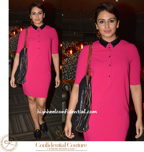 Huma Qureshi At Omung Kumar's Bash-stella mccartney bag