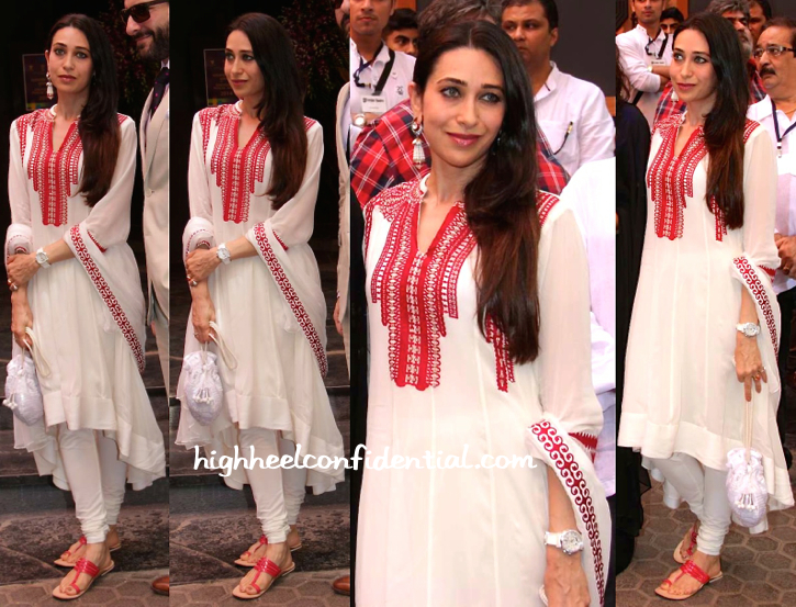 Karisma Kapoor Wears AM-PM By Ankur And Priyanka Modi To Dadasaheb Phalke Award Felicitation