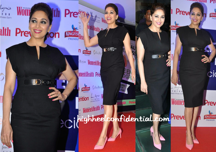 Madhuri Dixit (In A Dress From Source) At Leena Mogre's Book Launch-1