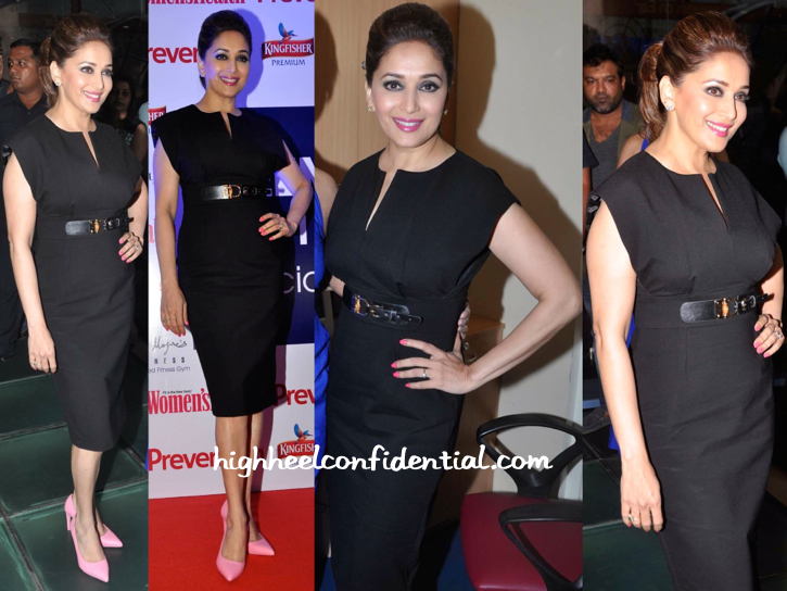 Madhuri Dixit (In A Dress From Source) At Leena Mogre's Book Launch-2
