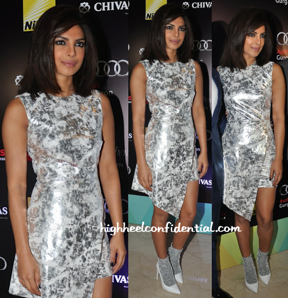 Priyanka Chopra In Zoe Jordan And Jeffery Campbell At HT Delhi's Most Stylish Awards 2015