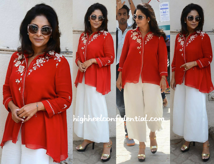 Shefali Shah In am-pm By Ankur and Priyanka Modi At 'Dil Dhadakne Do' Promotions