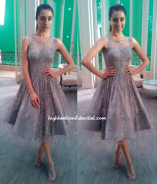 Shraddha Kapoor Films A Television Commercial Wearing Swapnil Shinde