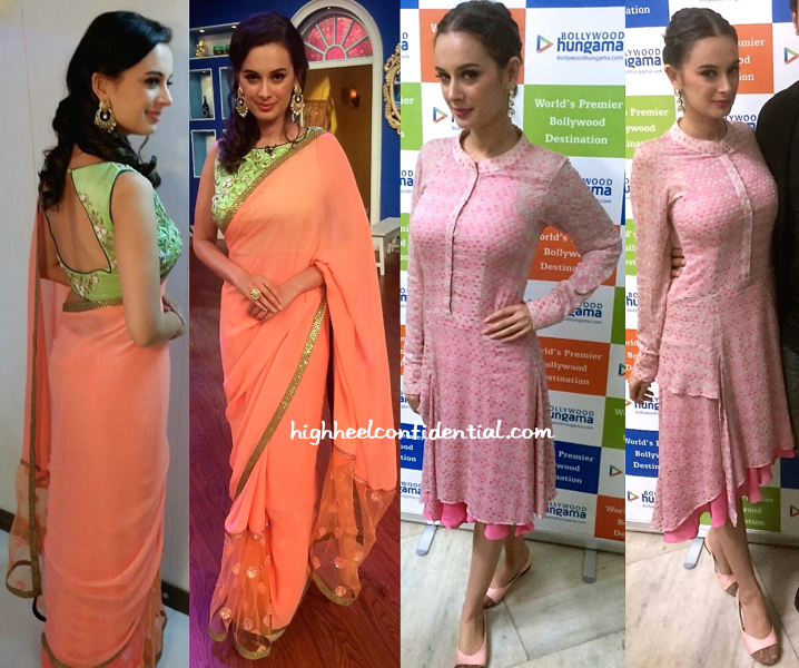 evelyn sharma in verb by pallavi singhee and shruti seth for ishqdaariyan promotions