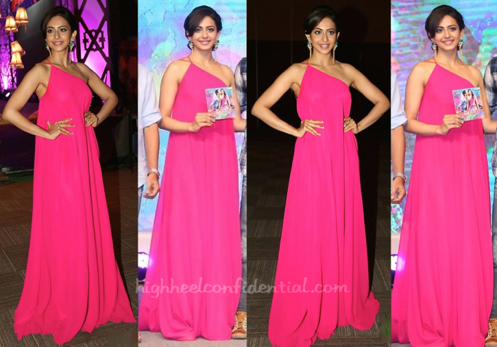 rakul preet i gaur and nainika at Pandaga Chesko Audio Launch-1