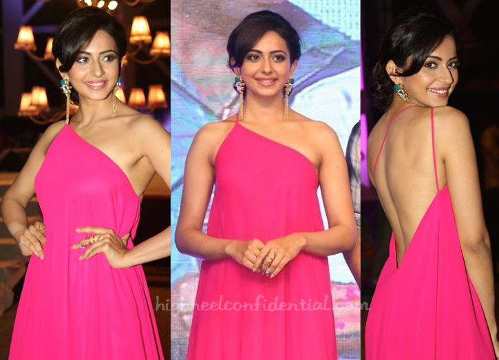 rakul preet i gaur and nainika at Pandaga Chesko Audio Launch-2