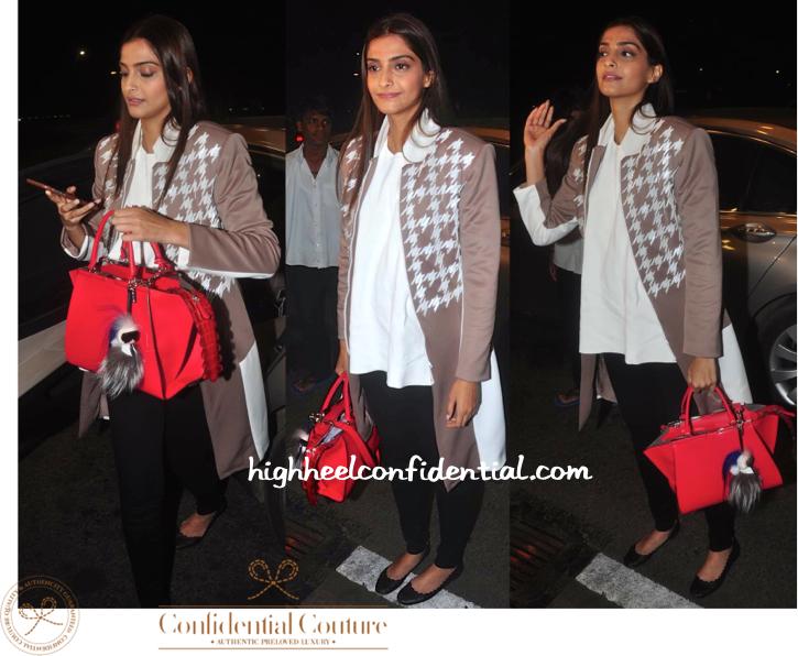 sonam kapoor-cannes 2015-mumbai airport-fendi bag-1