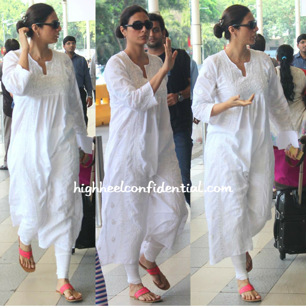 tabu photographed at mumbai airport