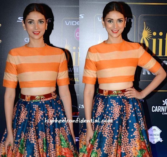 Aditi Rao Hydari In Sabyasachi At IIFA Rocks 2015-2