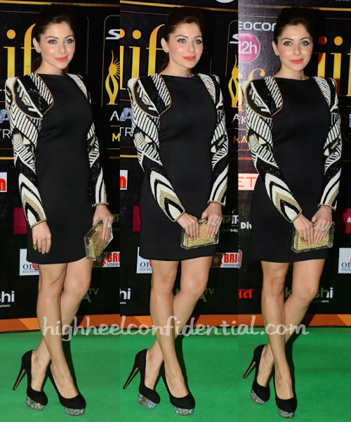 Kanika Kapoor At IIFA Rocks And At IIFA Fashion Extravaganza 2015 In Rose Room Couture