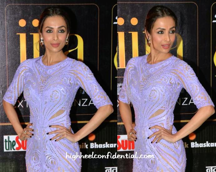 Malaika Arora Khan In Michael Cinco At IIFA Fashion Extravaganza 2015-2