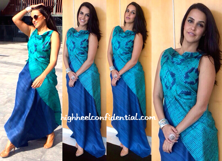 Neha Dhupia In Deepika Govind And Amrapali At AIBA 2015 Press Meet