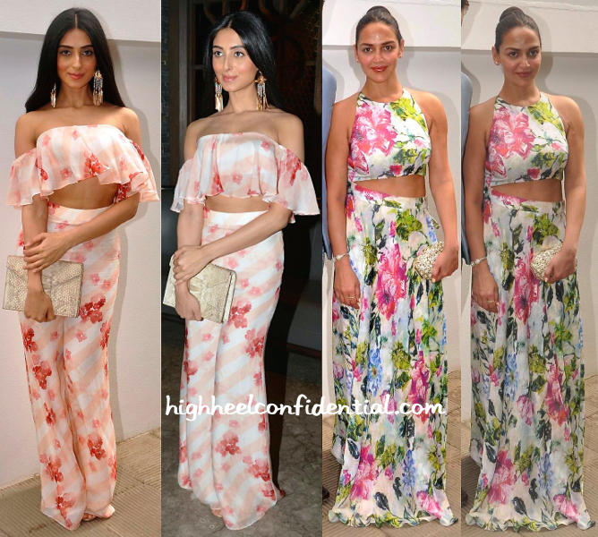 Pernia Qureshi And Esha Deol At Nishka Lulla-Dhruv Mehra Pre-Wedding Brunch-1