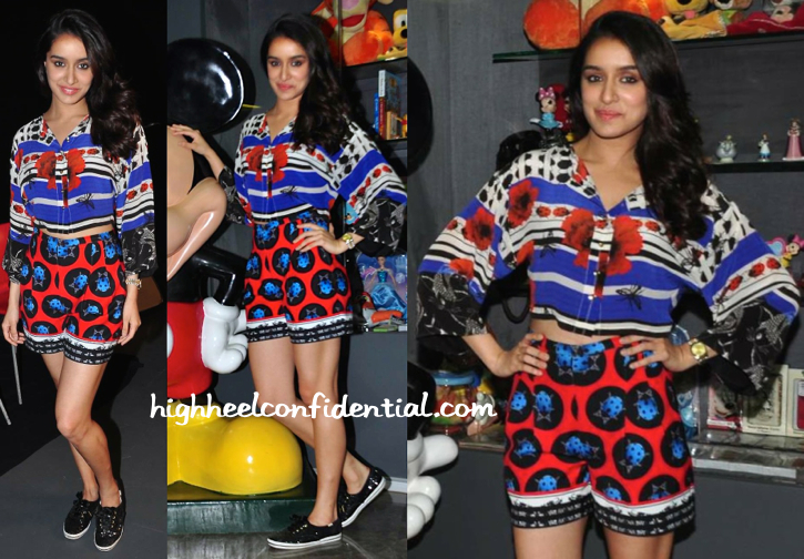 Shraddha Kapoor Wears Ken Ferns To ABCD 2 Promotions-1