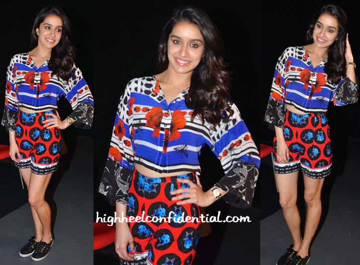 Shraddha Kapoor Wears Ken Ferns To ABCD 2 Promotions-2