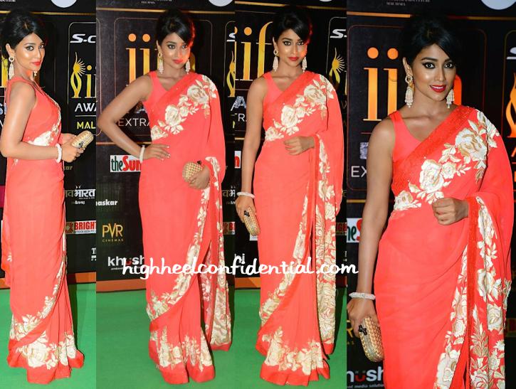 Shriya Saran In Manish Malhotra At IIFA Fashion Extravaganza 2015