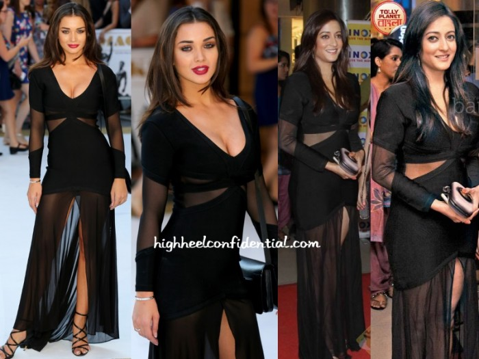 amy-jackson-raima-sen-sheer-bandage-dress-magic-mike-premiere