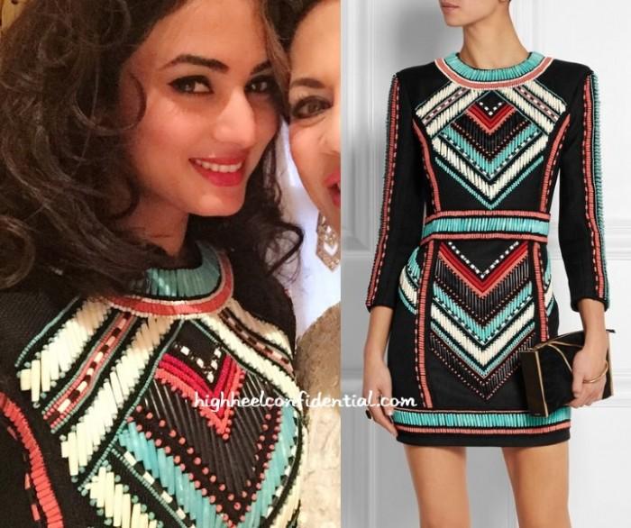 sonal-chauhan-balmain-dress-beaded