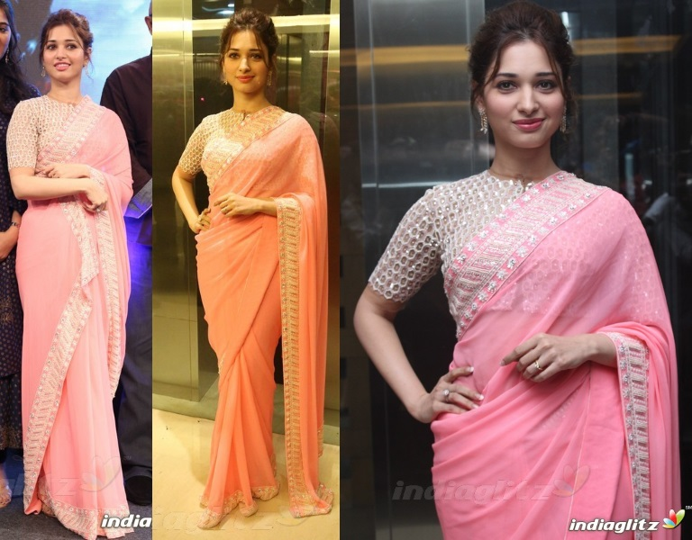 tamannaah-abu-sandeep-bahubali-trailer-launch-pink-sari