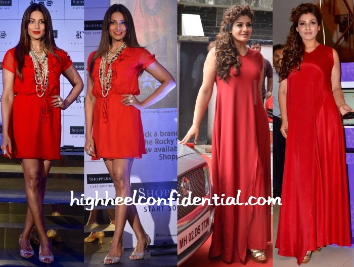 Bipasha Basu At Rocky S At Shoppers' Stop Collection Launch And Raveena Tandon At PN Gadgil Online Store Launch-1