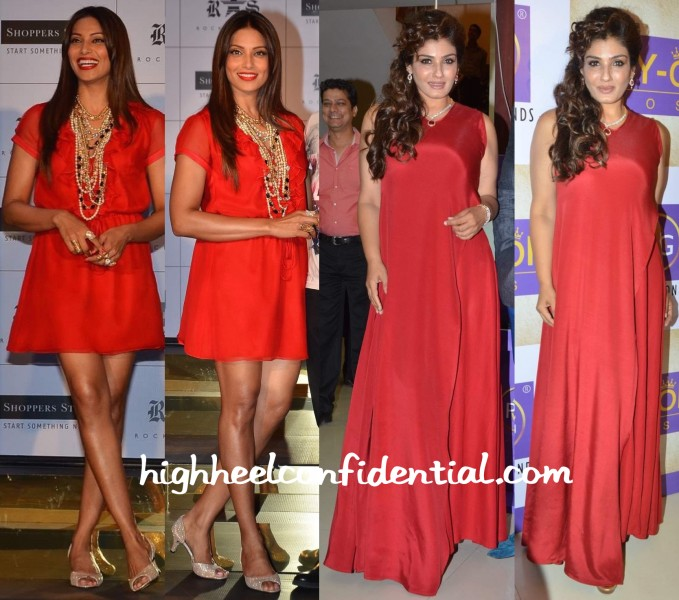 Bipasha Basu At Rocky S At Shoppers' Stop Collection Launch And Raveena Tandon At PN Gadgil Online Store Launch-2