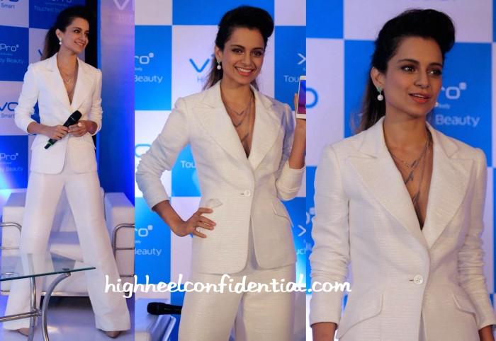 Kangana Ranaut In Theia Couture And Isharya At Vivo X5 Launch-2