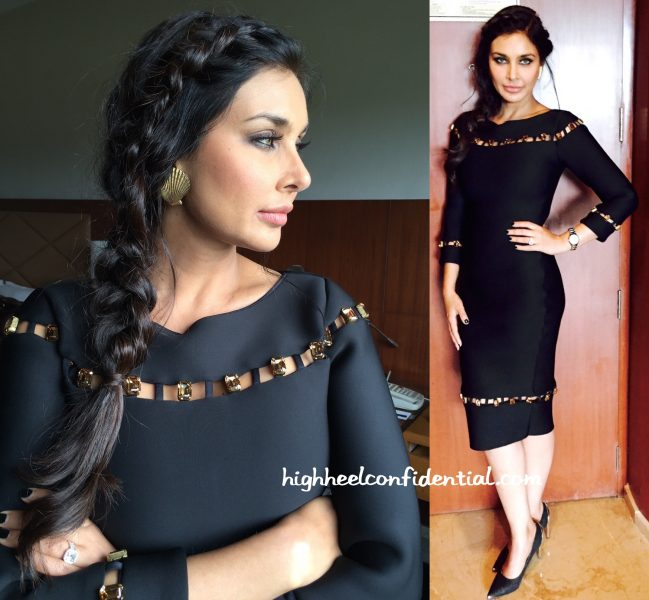 Lisa Ray Wears Shivan And Narresh To An Event For Rado In Chandigarh